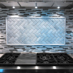Rockford Tile Backsplash herringbone installation